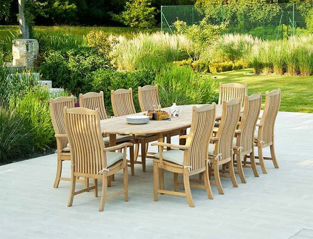 10 Seater Wooden Garden Furniture Sets