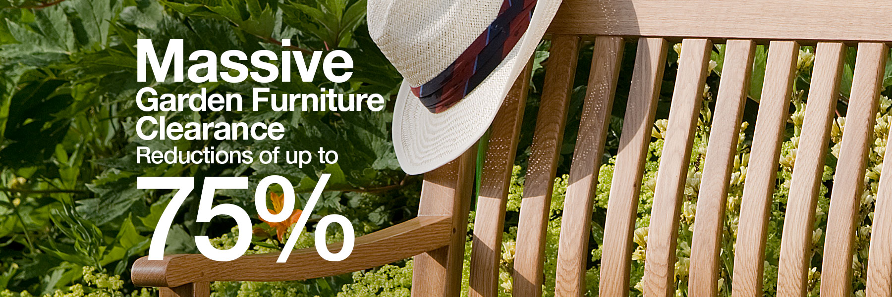 Save up to 75% off Garden Furniture