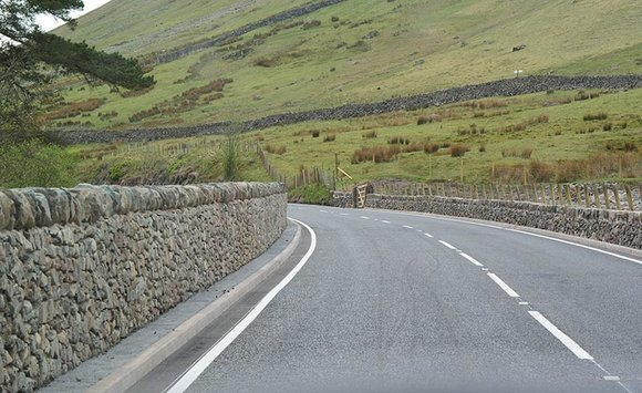 New retaining walls on the A591 at Dunmail Raise