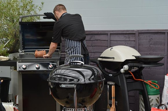 Gourmet BBQ chef Richard Holden at a Hayes Garden World demo