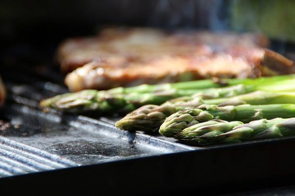Asparagus on the barbecue