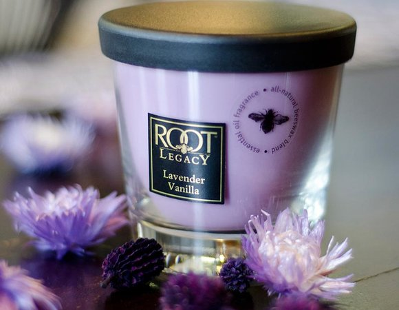 ROOT Lavender and Vanilla candle jar