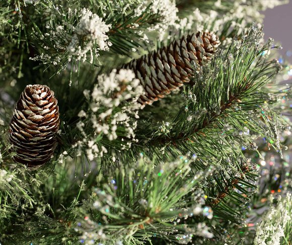 Glittery Bristle Pine Artificial Christmas Tree