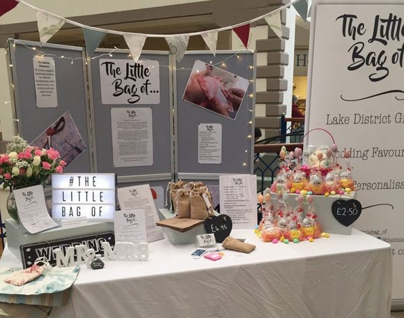 'The Little Bag of ...' trade stand in the Westmorland Shopping Centre, Kendal
