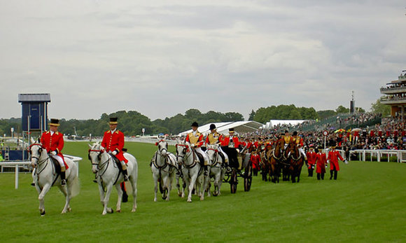 Royal procession at Ascot racecourse