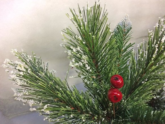 Snowy Westbury Pine Slim Artificial Christmas tree