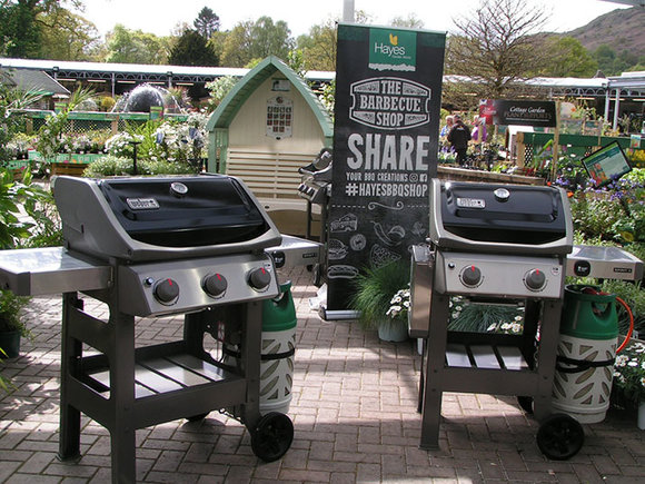 New Weber Spirit II E-310 and E-210 gas barbecues in the nursery at Hayes Garden World