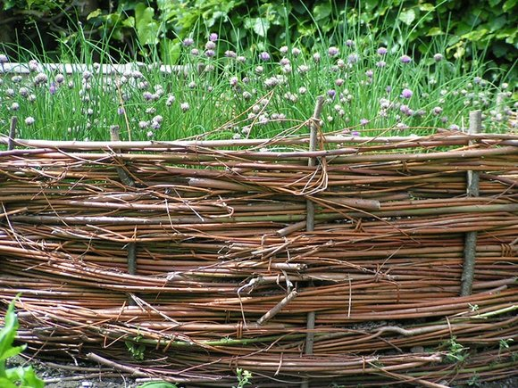 Raised wicker bed at Sizergh Castle