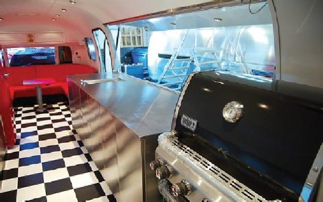 Weber Airstream Barbecue Road Show trailer