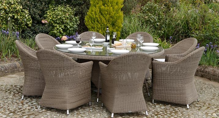 good quality synthetic rattan garden furniture only needs a yearly