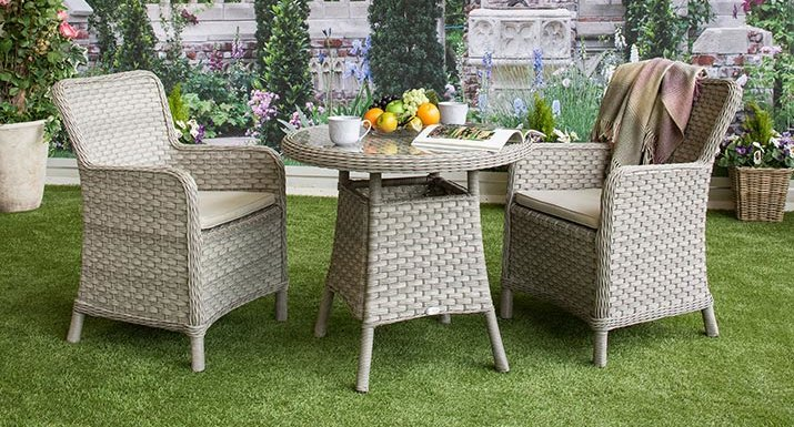 Broken strands of synthetic rattan garden furniture can easily be repaired    Hayes Garden World. Broken strands of synthetic rattan garden furniture can easily be