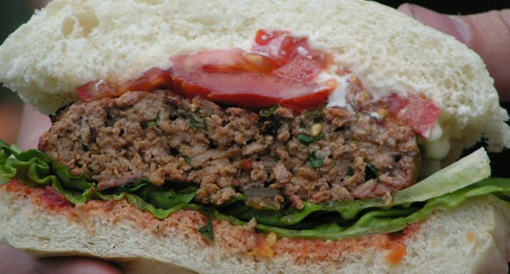 Moroccan-style burger cooked on the Weber MasterTouch