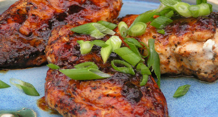 Cajun BBQ chicken cooked on the Weber Pulse 2000 electric BBQ