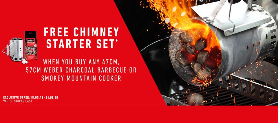 Weber Chimney Starter Set Promotion