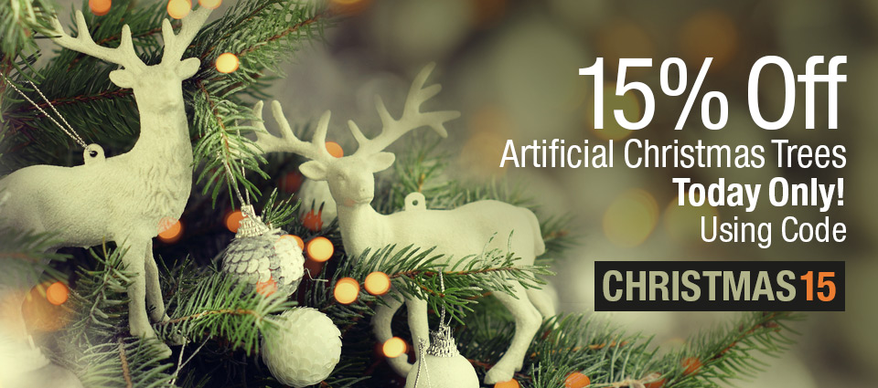 15% Off Artificial Christmas Trees