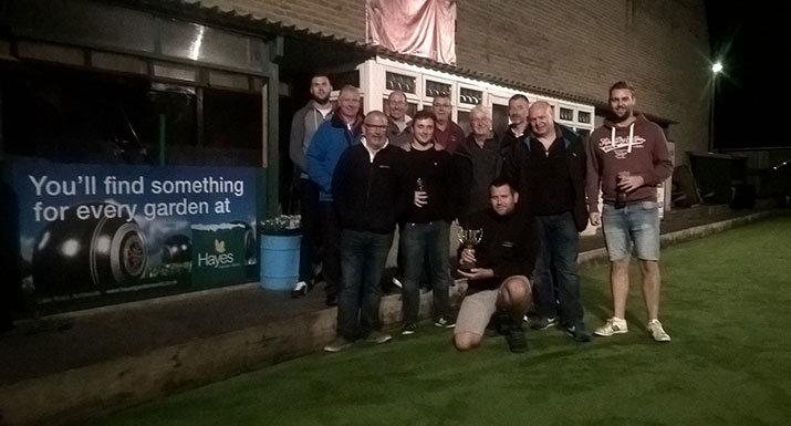Floodlight Bowling League trophy winners Holme A