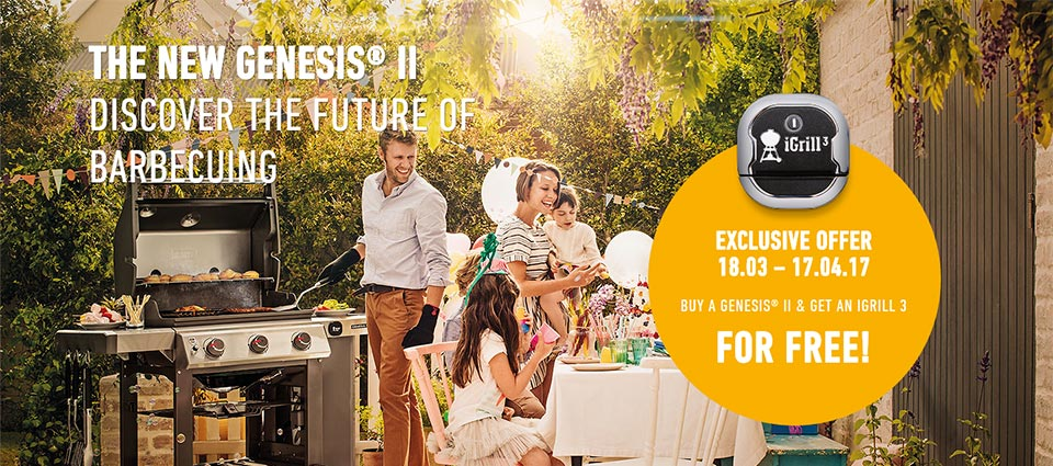 BUY A GENESIS® II & GET AN IGRILL 3 FOR FREE!