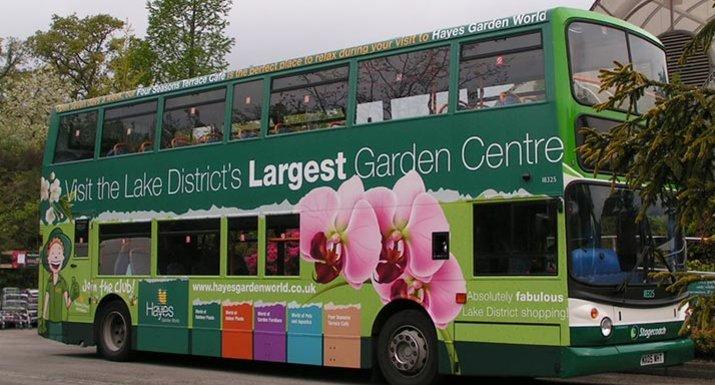 Hayes garden World decorated bus
