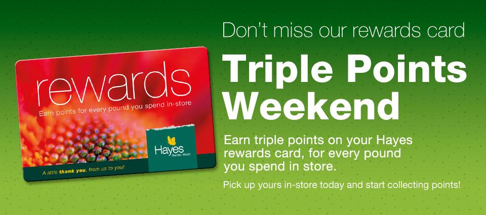 Rewards Card Triple Points Weekend