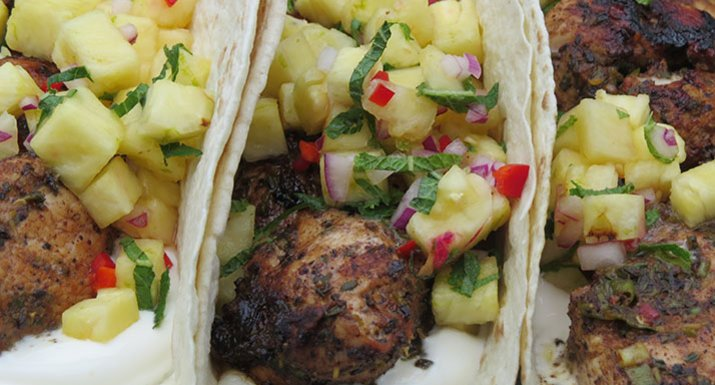 BBQ a taste of the Caribbean; serve in a wrap with salsa ...