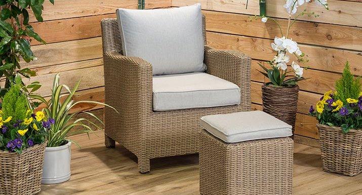 kettler palma high dining chair and footstool - Garden Furniture Kettler