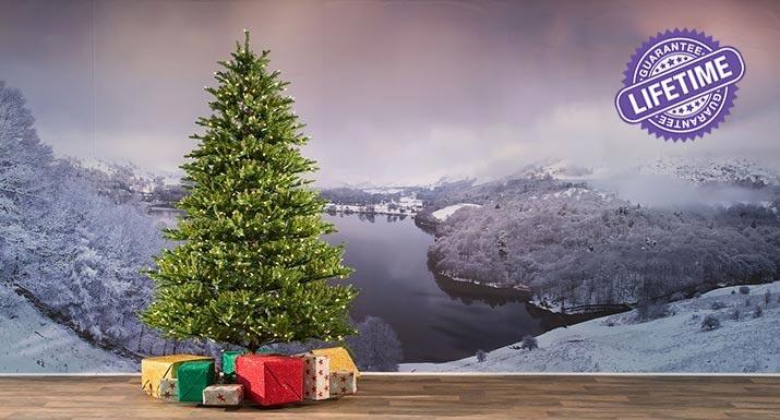 Smokey Mountain pre-lit artificial Christmas tree