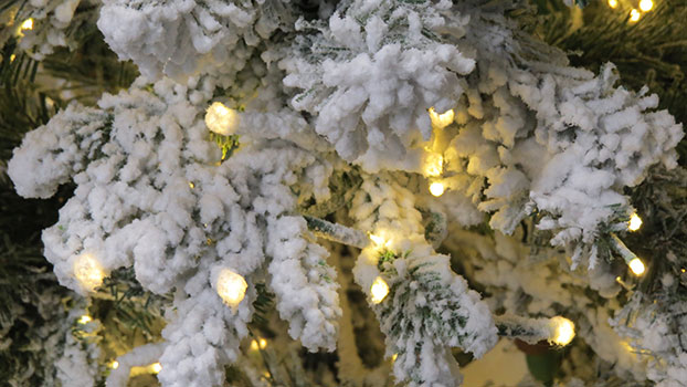 snowy Iceland Fir artificial Christmas tree at Hayes Garden World