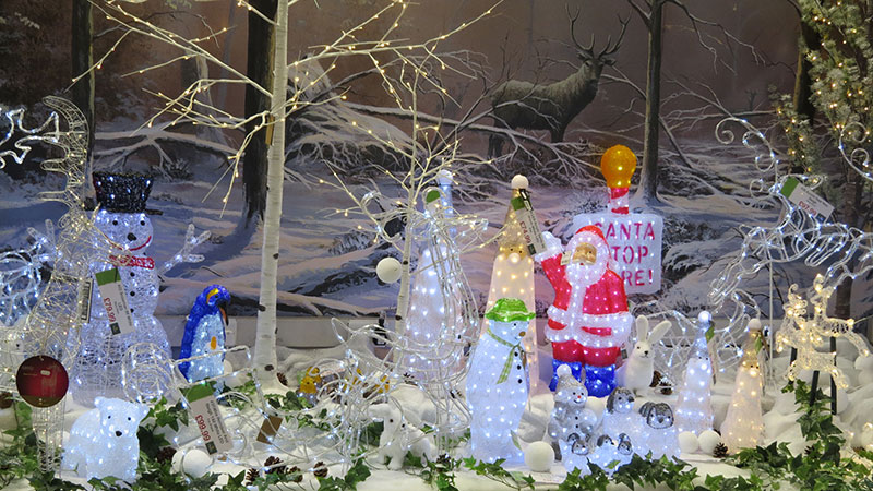 lighted Christmas acrylic figures
