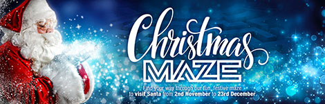 Enter The Christmas Maze @ Hayes Garden World!