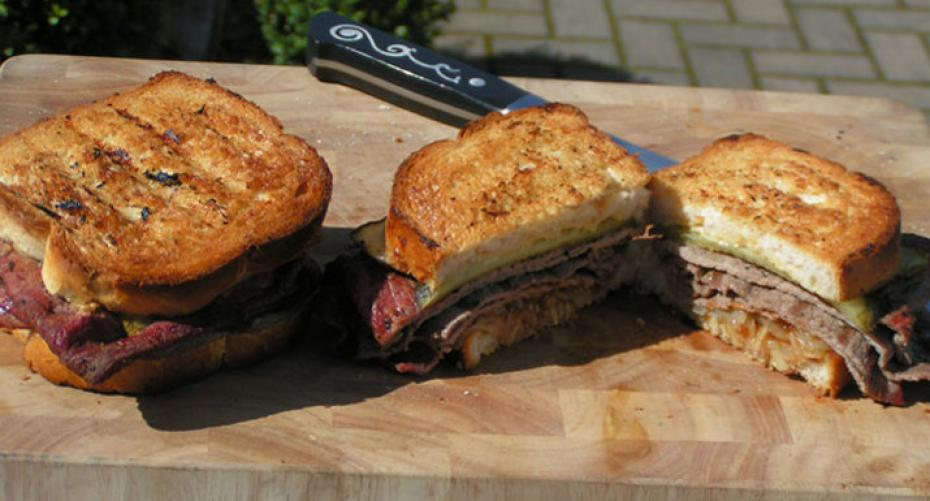 BBQ beef sandwiches cooked on the Traeger Timberline 850 wood pellet grill