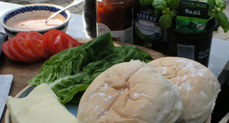 Ingredients for Italian style burgers