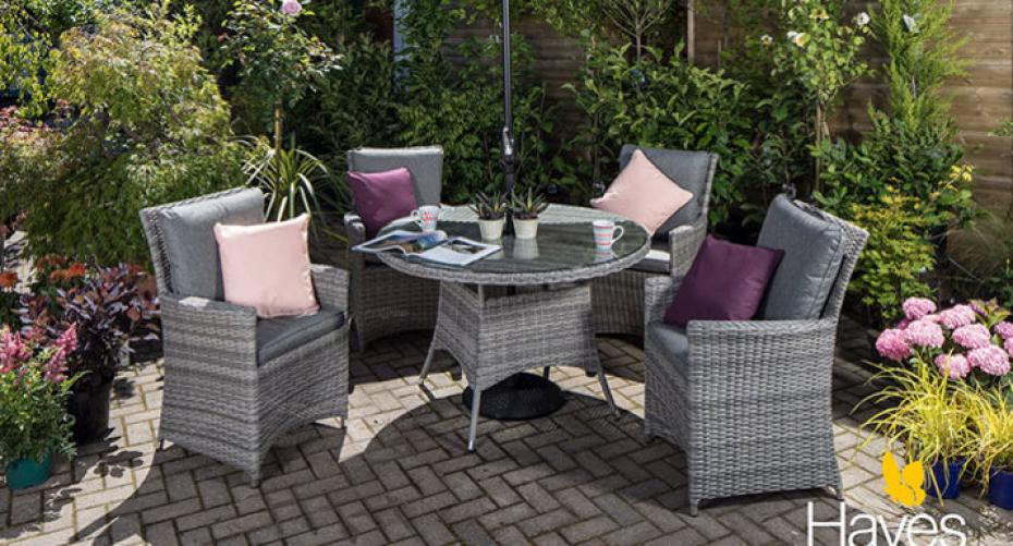 Cambridge 4 seat dining set at Hayes Garden World, Ambleside