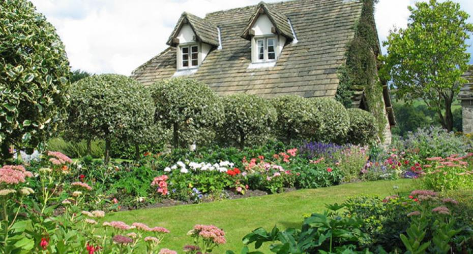English country garden and cottage