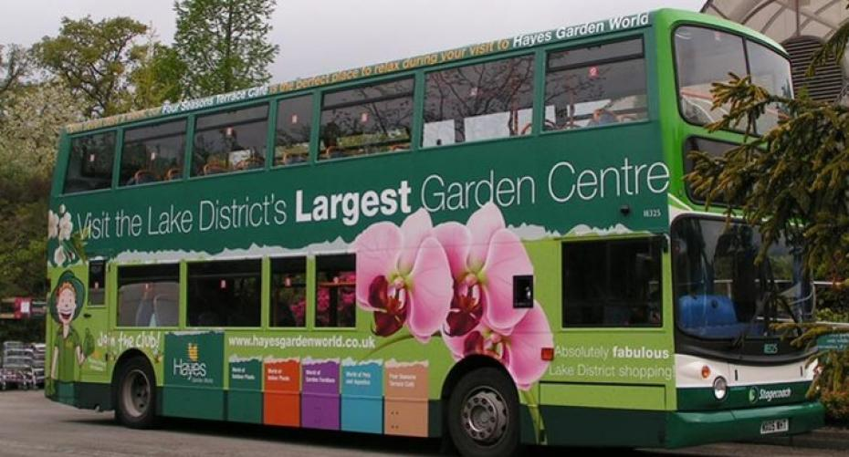 Hayes garden World decorated bus