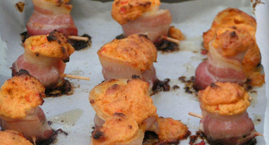 smoked pig shots cooked on the Traeger Timberline 850 wood pellet grill