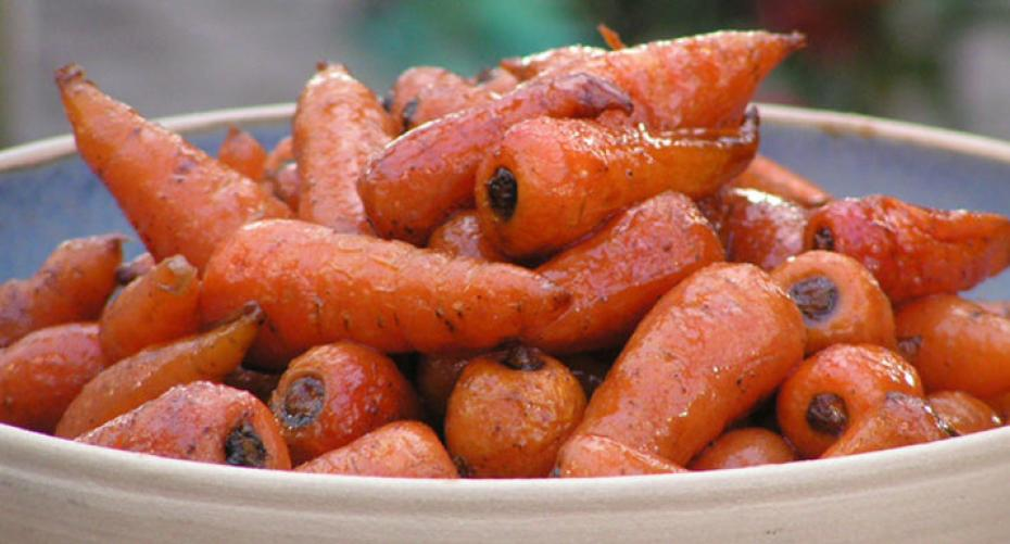 spiced, buttered Chantenay carrots cooked on Traeger Timberline 850