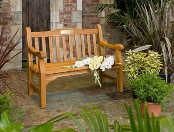 Solid Teak & Other Wooden Memorial Benches