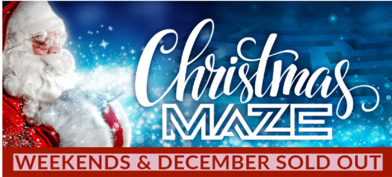 The Christmas Maze @ Hayes Garden World!