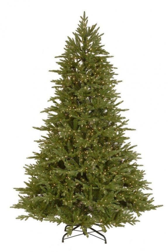 7.5ft Dual Infinity Light Bedminster Spruce Feel-Real Artificial Christmas Tree