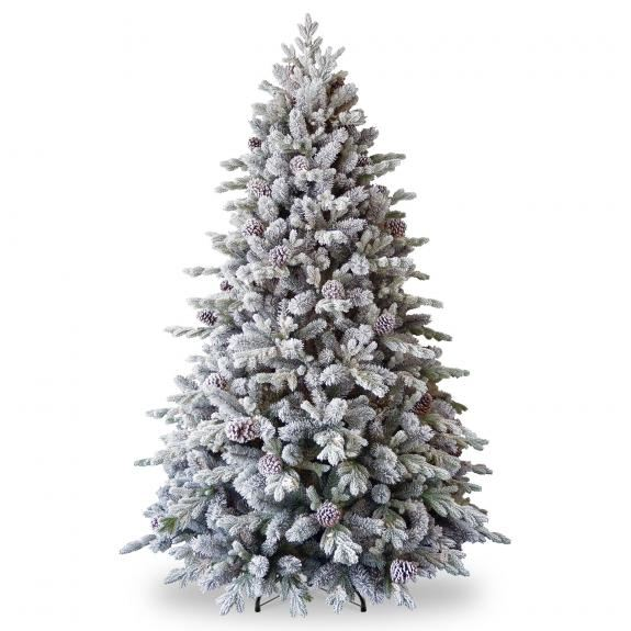 6.5ft Snowy Dorchester Pine Feel-Real Artificial Christmas Tree
