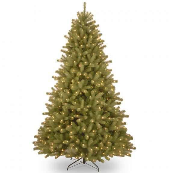 6ft Pre-lit Lakewood Spruce Feel-Real Artificial Christmas Tree