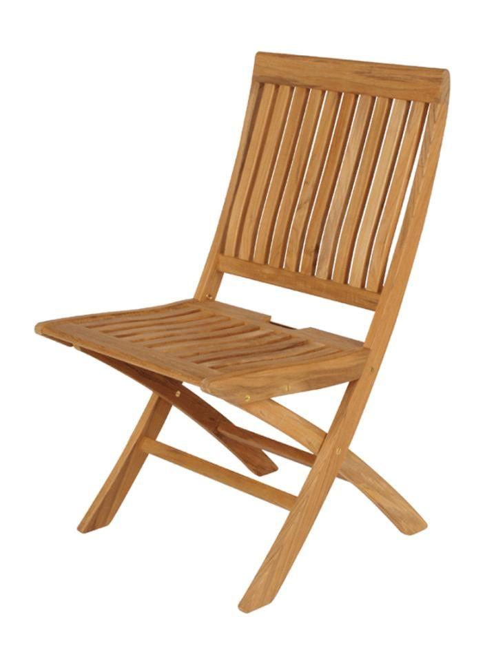 Barlow Tyrie Monaco Teak Folding Side Chair Hayes Garden