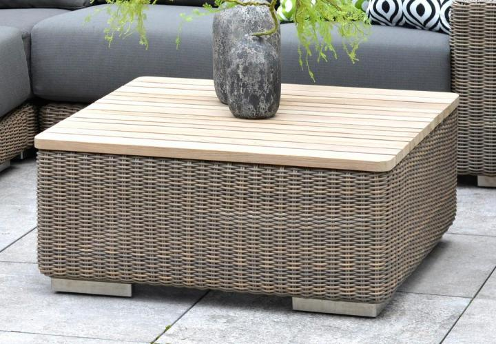 4 Seasons Outdoor Kingston Coffee Table With Teak Top 085m In Pure