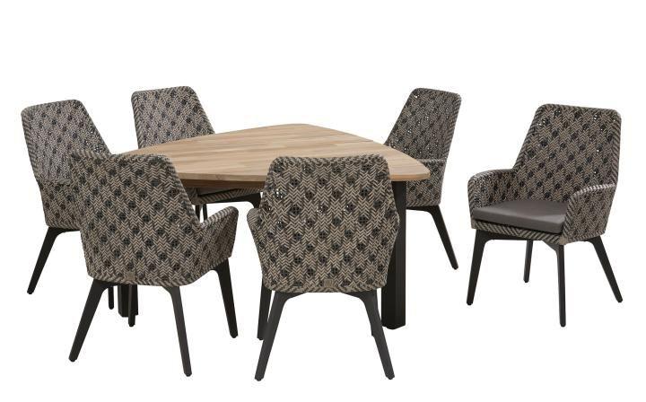 51a6a6fd3a 4 Seasons Outdoor Savoy 6 Seat Triangular Derby Dining Set | Hayes ...