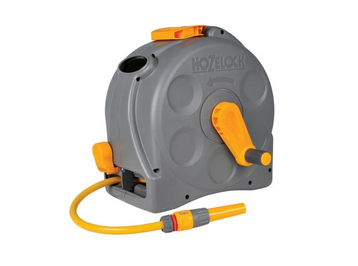 Hozelock 2'n1 Compact Hose Reel with 25m Garden Hose 2415 ...
