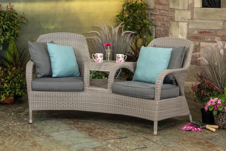 4 Seasons Outdoor Sussex Love Seat - Woven Garden ...