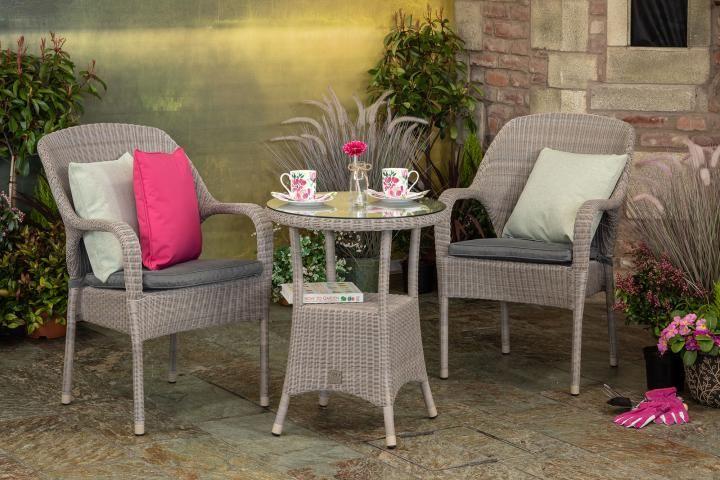 1f5b6afb7985 4 Seasons Outdoor Sussex 0.6m Bistro Set - Woven Garden Furniture ...
