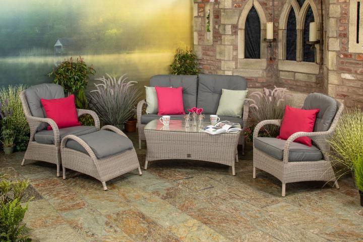 4 Seasons Outdoor Sussex Living Set - Woven Garden ... on 4 Seasons Outdoor Living id=35383