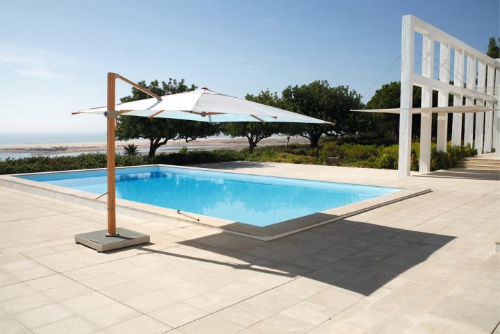 Barlow Tyrie Napoli 3 5m Square Cantilever Parasol Hayes