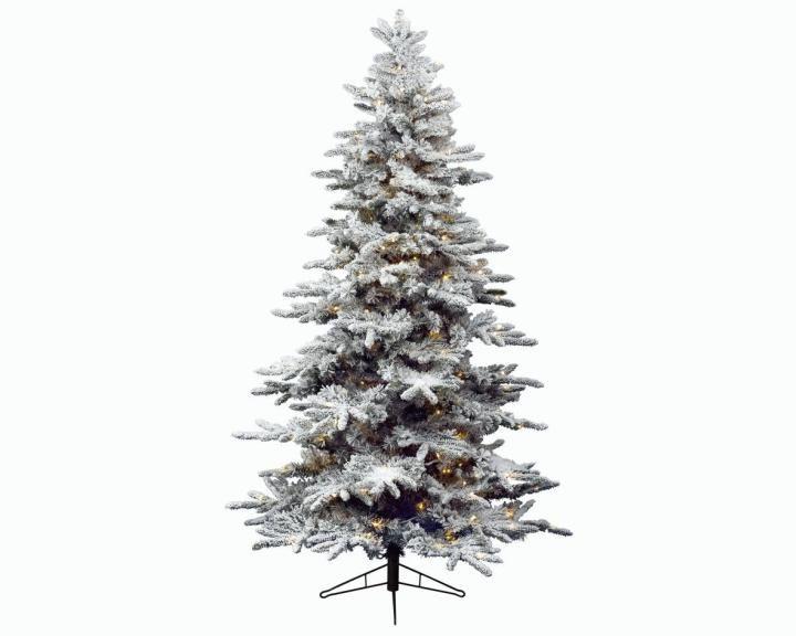 6ft Pre-lit Snowy Alaskan Fir Artificial Christmas Tree